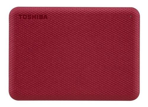 Imagen 1 de 4 de Disco duro externo Toshiba Canvio Advance HDTCA40X 4TB rojo