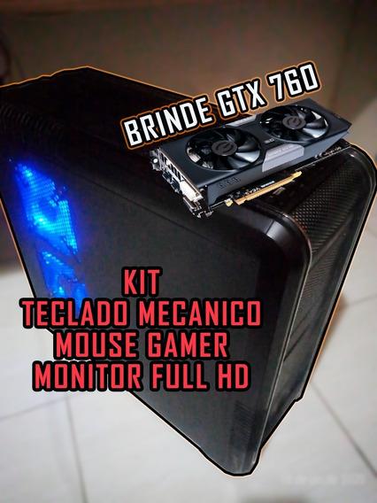 I7, Gtx 1060 6gb, 16gb Ram + Mouse Teclado Monitor E Brinde!