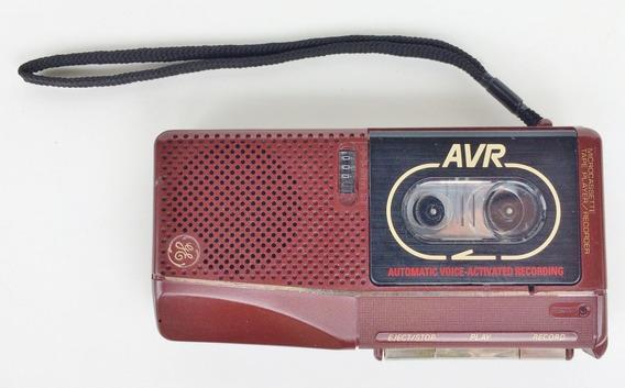 Gravador Antigo Ge, Microcassete Não Funciona Coleção Lindo!