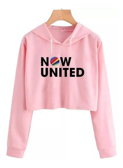 Now United Cropped Blusa De Frio Moletom Blusinha Linda