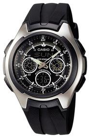 Relógio Casio Aq-163w Original Ana-digi Horários 29 Países