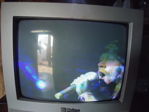 Tv Antiga Tudo Philco 14 Polegadas Colorida Sem Controle