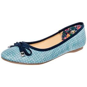 Zapato Casual Para Dama Ferrioni Azul Y Blanco Envío Gratis