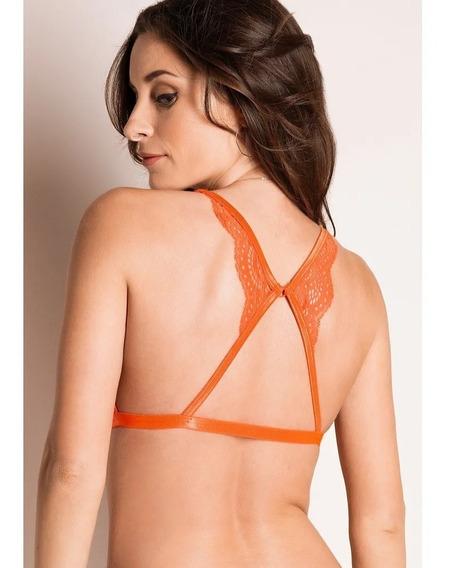 8467 Bralette Vicky Form Lenceria Sexy Encaje Naranja Top