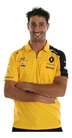 Polo Renault F1 Daniel Ricciardo Amarilla Genuina F1 2019