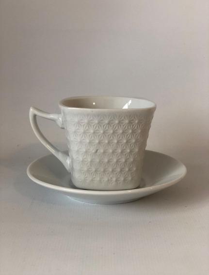 Set X6 Tazas Blanca Porcelana Diseños - Pocillos