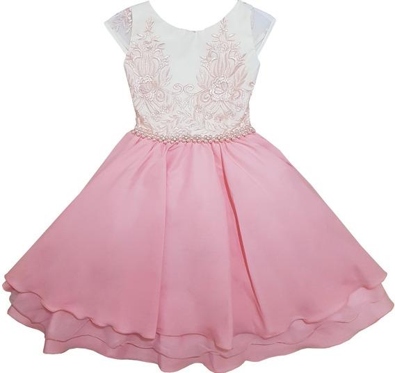 Vestido Infantil Festa Luxo Realeza Daminha Princesa Niver