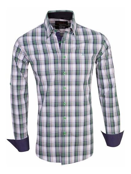 Camisas Elastizadas Hombre Escocesa - Quality Import Usa