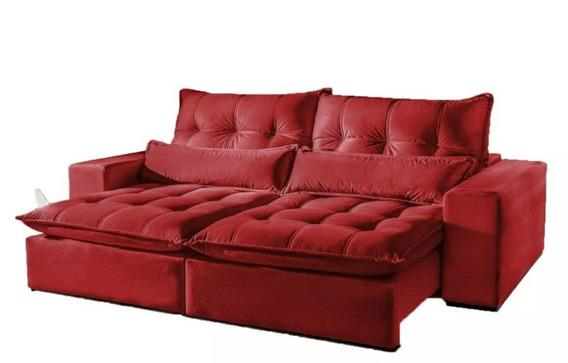 Sofá Retrátil 2.10x1.80 Pillow Top 20cm P/ Pessoas Exigentes