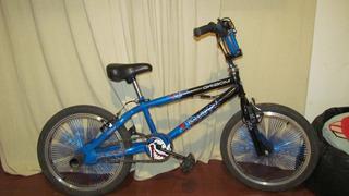 Bicicleta Gribom 3810 Backflip Azul Metálico Rodado 20 Niño