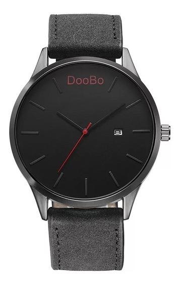 Relógio Masculino Pulseira Resistênte Preto Com Data Doobo
