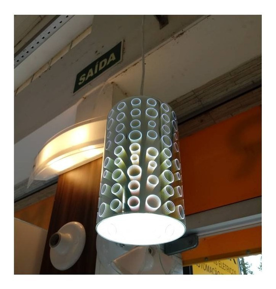 Luminaria Efeito Mola 3d, Pendente, Banheiro Quarto Gourmet.