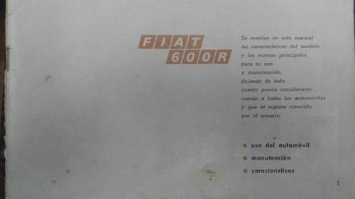 Manual De Guantera Fiat 600 R