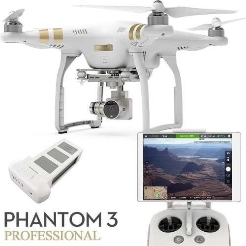 Combo Dji Phantom 3 4k + Bateria Extra Com Nota Fiscal Novo!