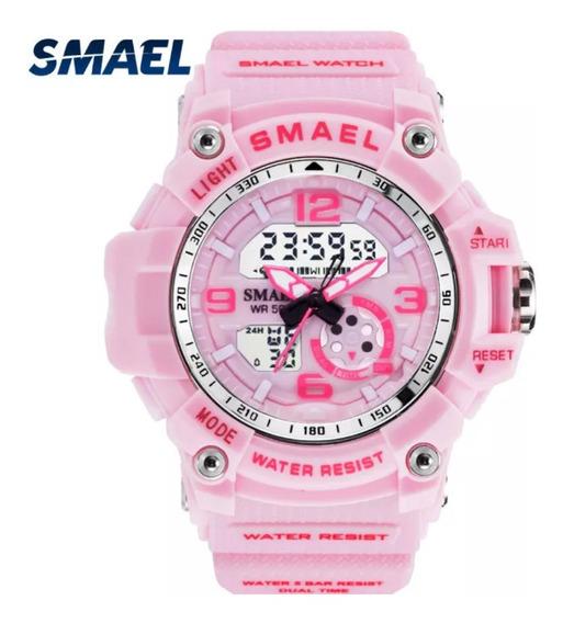 Relógio Esportivo Feminino Smael 1808-a Show !!!