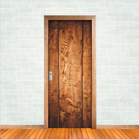 Adesivo Decorativo De Porta - Madeira
