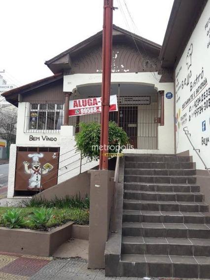 Salão Para Alugar, 240 M² Por R$ 3.800,00/mês - Centro - São Caetano Do Sul/sp - Sl0169