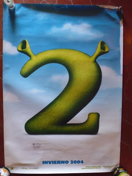 Poster Original Teaser Cine Shrek Año 2004 100x70