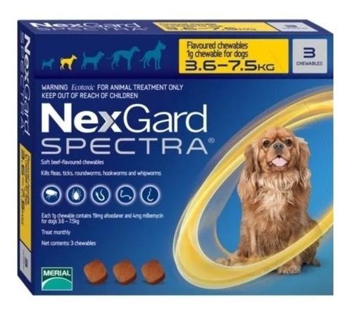Imagen 1 de 1 de  Nexgard Spectra 3.6kg A 7.5kg Contiene 3 Pastillas.