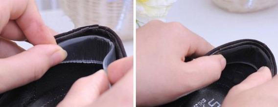Protetor De Calcanhar Auto-adesivo Em Gel Dupla Almofada