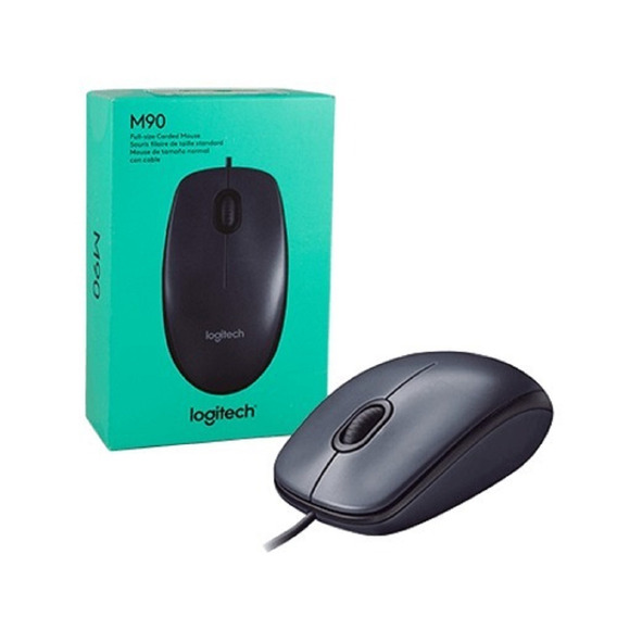 Mouse Logitech M90 Usb Óptico C/ Nfe + Pronta Entrega