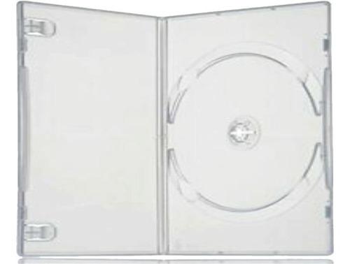 Caja Estuches Grueso 14mm Para Dvd, Transparente Por 10 Unds