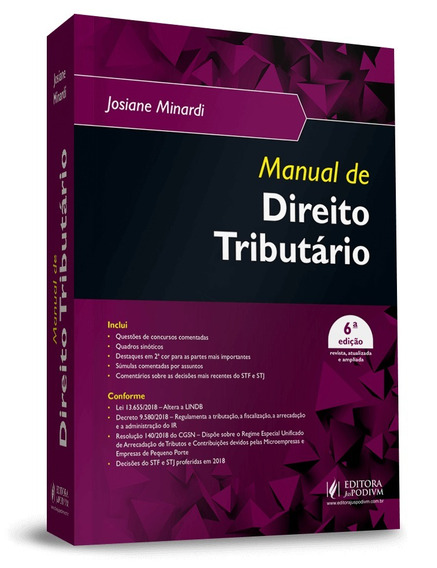 Manual De Direito Tributario 6ª Edição(2019)