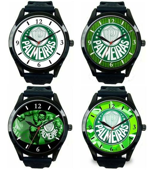 Kit 4 Relógios Pulso Palmeiras Esportivo Masculino Promoção