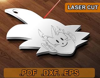Pack 6 Vectores Corte Laser Dragon Ball Goku