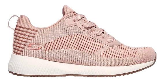 Skechers Zapatillas Running Mujer Bobs Squead Glam Rosa Ras