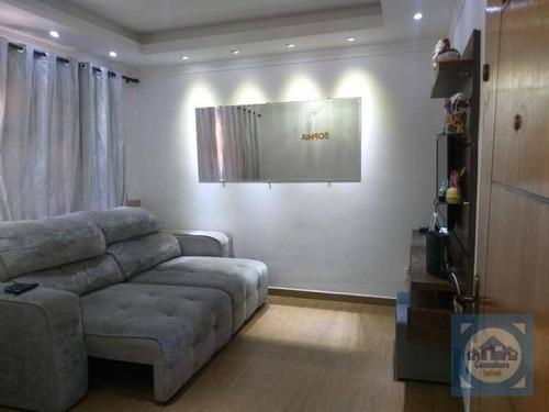 Imagem 1 de 21 de Apartamento Com 2 Dormitórios À Venda, 77 M² Por R$ 344.500,00 - Encruzilhada - Santos/sp - Ap5867