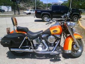 Harley Davidson Heritage Softail Naranja-amarillo