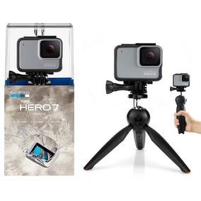 Gopro Hero 7 White Câmera + Tripé Bastão Mini 2 Em 1