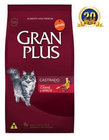 Ração Guabi Gran Plus Gatos Castrados Carne E Arroz 10kg