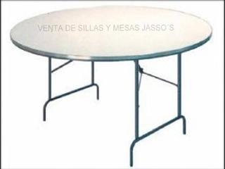 Mesa Redonda Fibra De Vidrio 1.50 Diametro Para 10 Personas