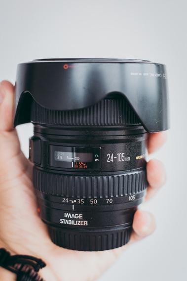 Lente Canon Ef 24-105mm F/4 Usm - Acompanha Parasol
