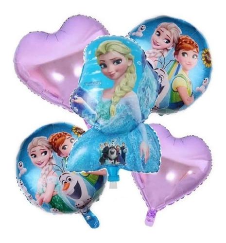 Globos Frozen Princesas Metalizados X5