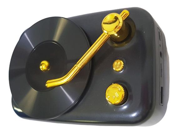 Caixa De Som Modelo Vitrola Bluetooth Radio Fm Usb Sd Radio