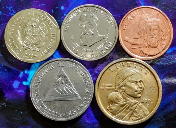 Monedas De América 13 Nicaragua, Usa Y Otros Países