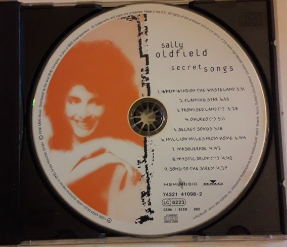 Sally Oldfield Cd Secret Songs 1996 Original