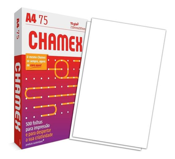 Papel Sulfite Chamex Office 75g A4 - Pacote Com 500 Folhas