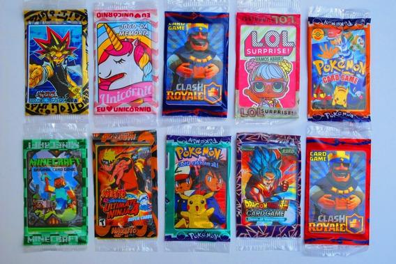Kit 2.000 Cartinha= 500 Pcts, Cards, Pokemon, Free Fire, Lol
