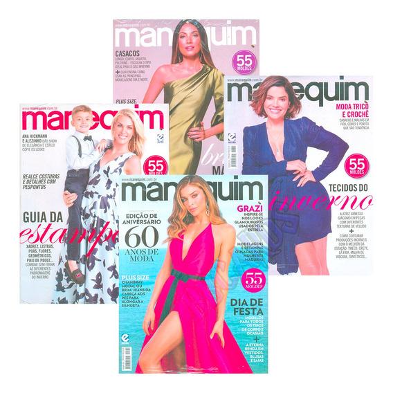 Manequim Revistas Moda Costura Casaco Estampa Festa