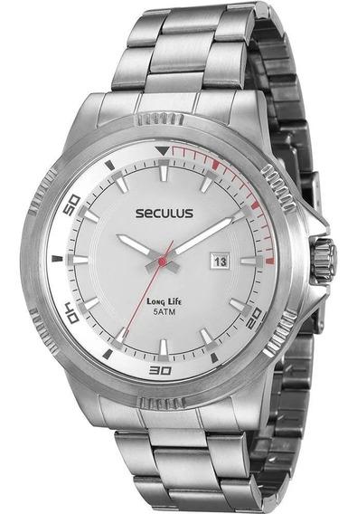 Relógio Masculino Seculus 20359g0svna1 Analógico Calendário