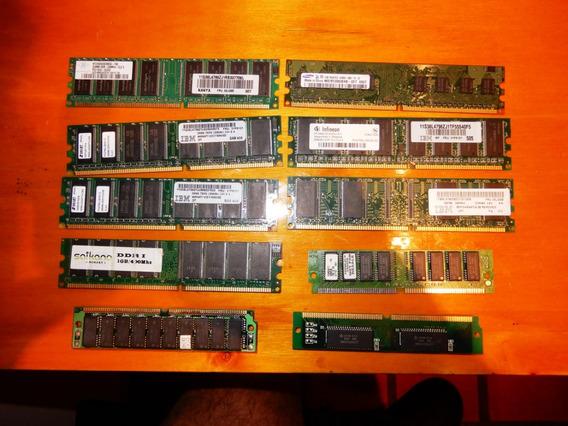 10 Memorias Ram - Lote - Ibm - Samsung Y Otras