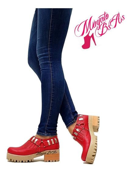 Zapatos De Mujer Sandalia Texanas Con Tachas Taco Foliado Nueva Temporada Art.1810 Mugato-bsas®
