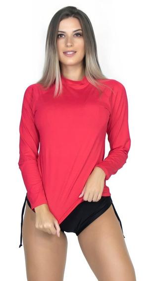 Camisa Térmica Feminina Longa Segunda Pele Proteção Uv 037