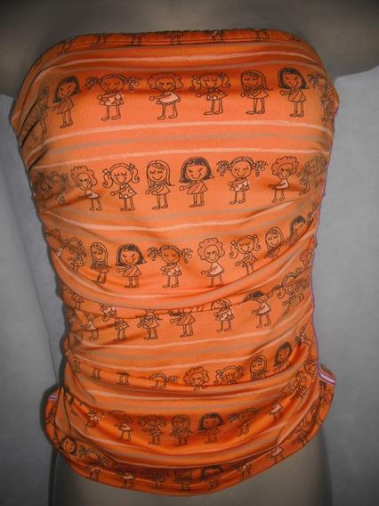 Blusa Corpete Laranja Desenhos Colcci M Usado Bom Estado