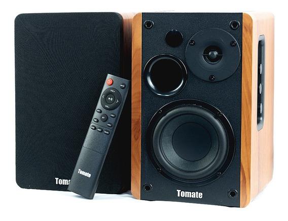 Monitores De Áudio Ativo Madeira Som Sala Quarto Home Studio