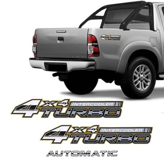 Adesivos 4x4 Turbo Intercooler Hilux 2005/2008 + Automatic